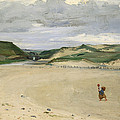 The Beach At Ambleteuse, 1869 Oil On Canvas by Charles Emile Auguste Carolus-Duran