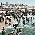 The Beach At Atlantic City 1902 by Unknown