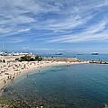 The Beach At Cap D' Antibes by Allen Sheffield
