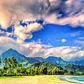 The Beach At Hanalei Bay Kauai by Dominic Piperata