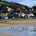 The Beach At Marazion by Louise Heusinkveld