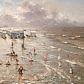 The Beach At Ostend by Adolphe Jacobs