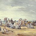 The Beach At Trouville, 1873 by Eugene Louis Boudin