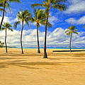 The Beach At Waikiki by Dominic Piperata