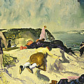 The Beach Newport by George Wesley Bellows