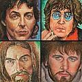 The Beatles Quad by Melinda Saminski