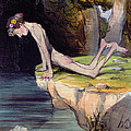 The Beautiful Narcissus by Honore Daumier