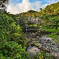 The Beautiful Scene Of The Seven Sacred Pools Of Maui. by Jamie Pham
