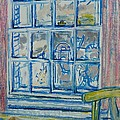 The Bedroom Window Oil & Pastel On Paper by Brenda Brin Booker