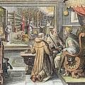 The Beginning Of The Silk Industry by Jan van der Straet