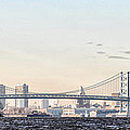 The Ben Franklin Bridge From Penn Treaty Park by Bill Cannon