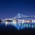 The Benjamin Franklin Bridge At Night by Bill Cannon