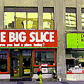 The Big Slice Pizzeria Downtown Toronto Restaurants Doner Kebob House Street Scene Painting Cspandau by Carole Spandau