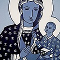 The Black Madonna In Blue by John  Nolan