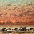The Black Rocks At Trouville by Gustave Cobert