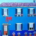 The Blue House Burano by Jan Matson