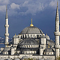 The Blue Mosque In Istanbul by Michele Burgess