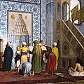 The Blue Mosque by Jean Leon Gerome