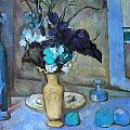 The Blue Vase by Paul Cezanne