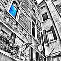 The Blue Window In Venice - Italy by Marianna Mills