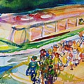 The Boat Trip, 1989 Wc On Paper by Brenda Brin Booker