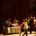 The Bookseller - New York City Street Scene - Street Vendor by Miriam Danar