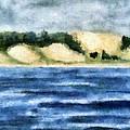 The Bowl - Dunes Study by Michelle Calkins