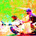 The Boys Of Summer 5d28228 The Catcher Square by Wingsdomain Art and Photography