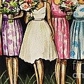 The Bride And Her Bridesmaids by Elizabeth Robinette Tyndall