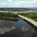 Oregon Bridge From Above by Bob Slitzan