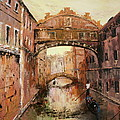 The Bridge Of Sighs Venice Italy by Jean Walker