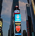 The Bright Lights Of Times Square by John Wall