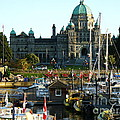 The British Columbia Capitol And Marina by Raphael OLeary