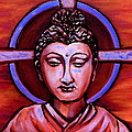 The Buddha In Red And Gold by Art by Kar