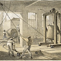 The Cable Is Brought To  Greenwich by Mary Evans Picture Library