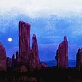 The Callanish Stones Scotland by Don Kuing
