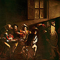 The Calling Of St Matthew by Michelangelo Merisi o Amerighi da Caravaggio