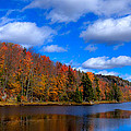 The Calm Of Autumn At Bald Mountain Pond by David Patterson