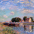 The Canal At Saint-mammes by Alfred Sisley