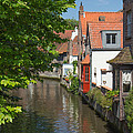 The Canal In The Downtown Of Bruges  by Jaroslav Frank