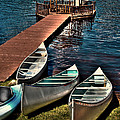The Canoes At Big Moose Inn by David Patterson