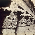 The Capitals Of The Portico Of The Temple Of Khnum In Esna by Francis Bedford