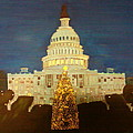 The Capitol At Christmas by Lourdes Torres