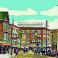 The Capitol Theatre And Main St. In Pawtucket Ri In 1905 by Dwight Goss