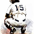The Captain  Thurman Munson by Iconic Images Art Gallery David Pucciarelli
