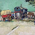 The Caravans   Gypsy Encampment Near Arles by Vincent Van Gogh