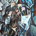 The Card Players by Taiche Acrylic Art
