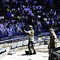 The Cast Prepping The Audience At The Waterworld Attraction At Studios by Ashish Agarwal