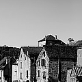 The Castle Above The Village Panorama In Black Nd White by Weston Westmoreland