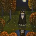 The Cat And The Moon by Veikko Suikkanen
